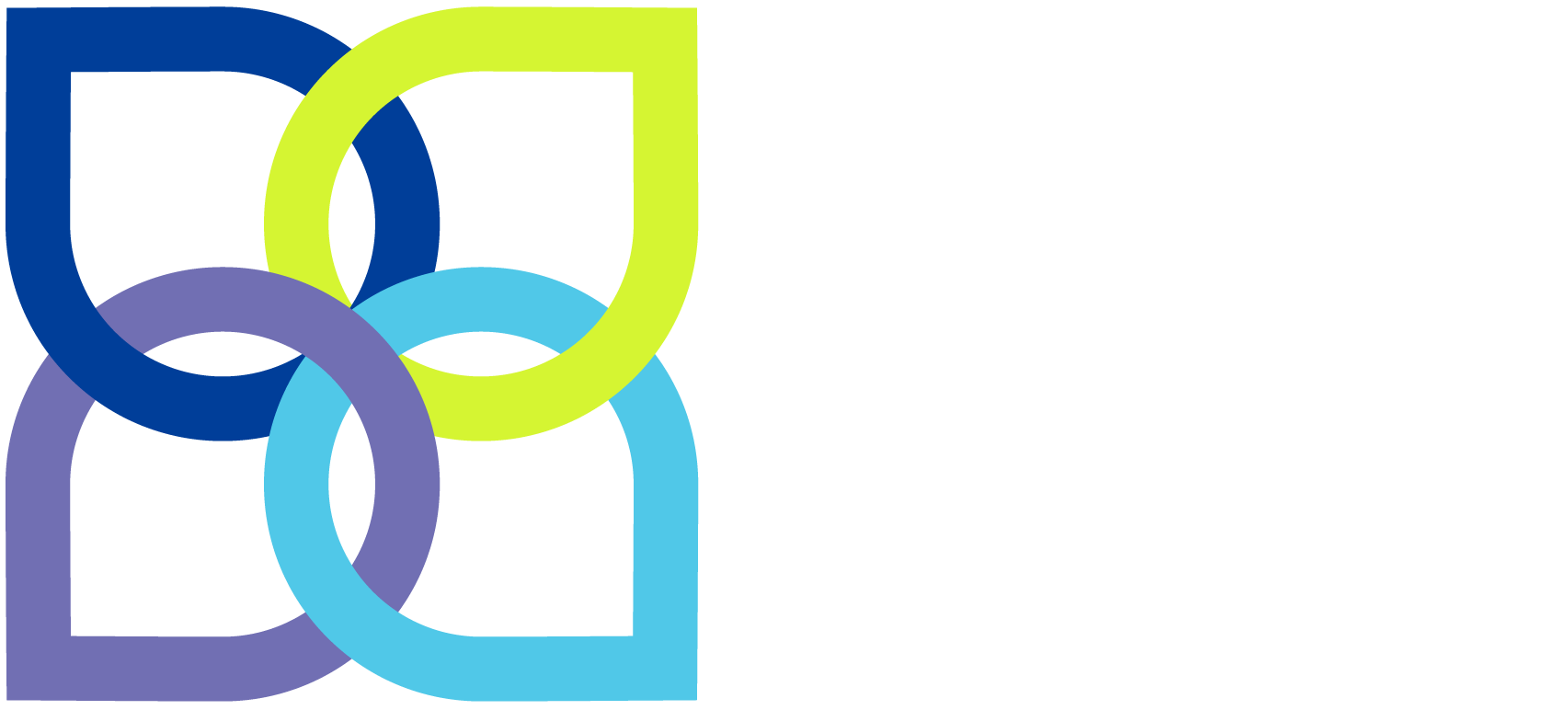 NC LIVE logo, four-color dogwood flower