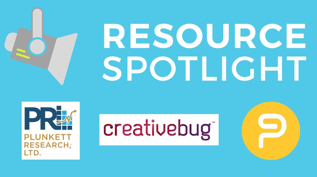 Resource Spotlight: PowerNotes, Creativebug, Plunkett
