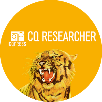 CQ Researcher logo with tiger